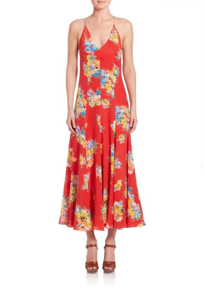Ralph Lauren: Polo Polo Ralph Lauren Silk Floral Maxi Dress