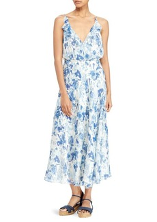 Polo Ralph Lauren Silk Floral Wrap Dress