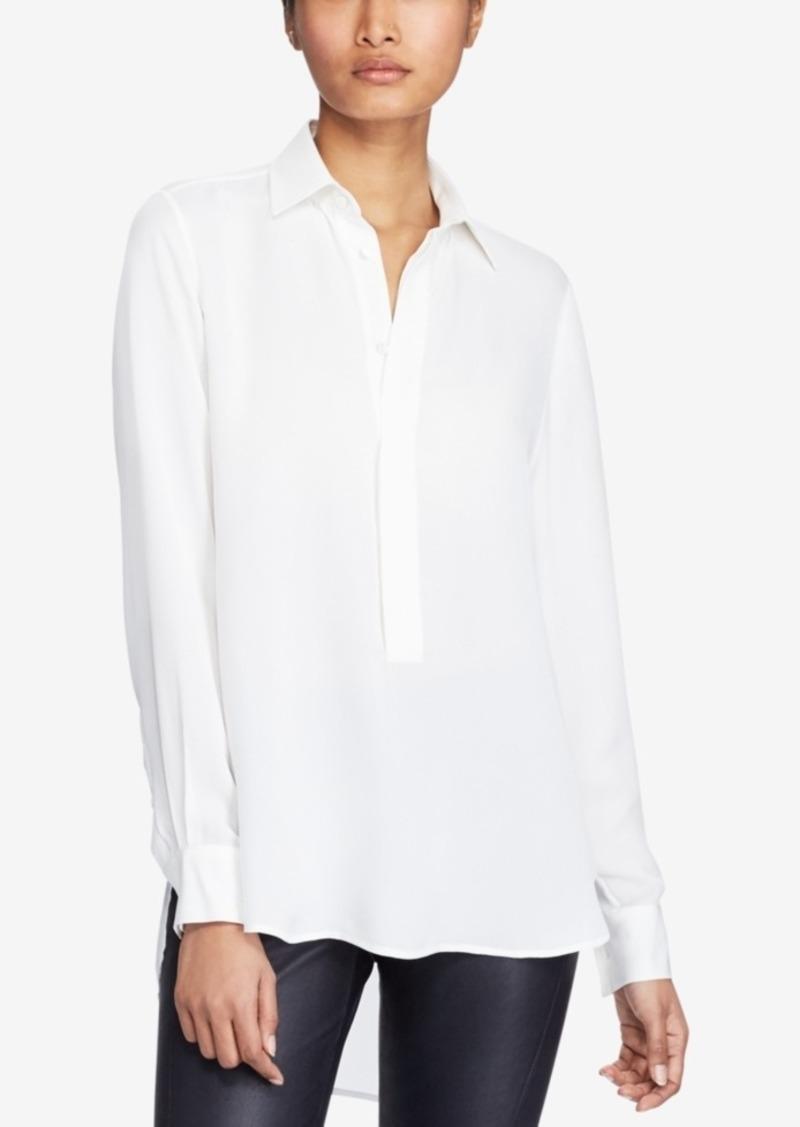 Lauren Shirt Ralph Polo Silk Georgette qzMSUVp