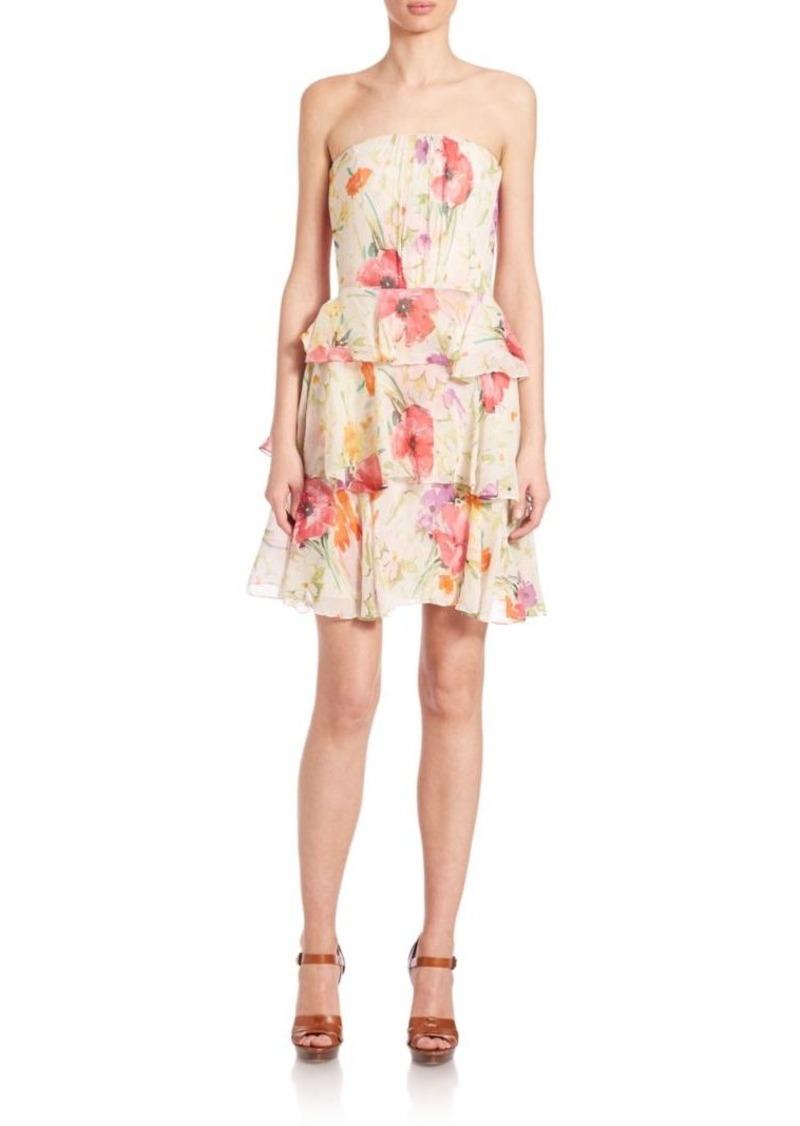 Ralph Lauren: Polo Polo Ralph Lauren Silk Strapless Dress