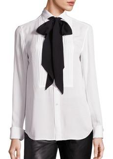 Ralph Lauren: Polo Polo Ralph Lauren Silk Tie-Neck Tuxedo Shirt