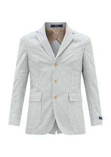 Ralph Lauren Polo Polo Ralph Lauren Single-breasted cotton-seersucker blazer