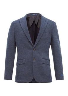 Ralph Lauren Polo Polo Ralph Lauren Single-breasted herringbone cotton-blend blazer