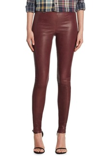 Polo Ralph Lauren Skinny-Fit Leather Pants