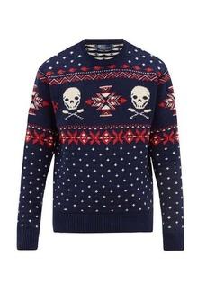 Ralph Lauren Polo Polo Ralph Lauren Skull-jacquard cotton-blend sweater