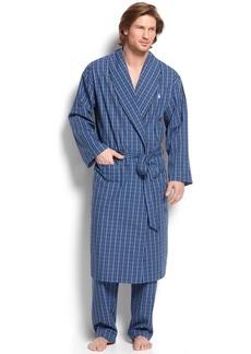 Ralph Lauren Polo Polo Ralph Lauren Sleepwear, 100% Cotton Harwich Plaid Woven Robe
