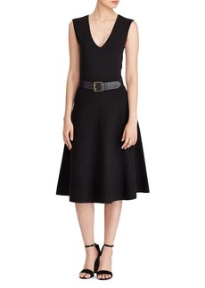 Ralph Lauren: Polo Polo Ralph Lauren Sleeveless Fit-&-Flare Dress