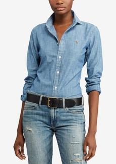 Ralph Lauren: Polo Polo Ralph Lauren Slim-Fit Cotton Chambray Shirt