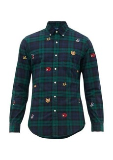 Ralph Lauren Polo Polo Ralph Lauren Slim-fit varsity-logo checked cotton-oxford shirt