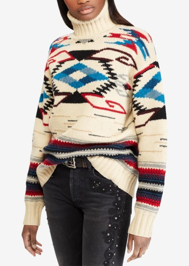 8b6a5ed1c0367 Ralph Lauren  Polo Polo Ralph Lauren Southwestern Turtleneck Sweater