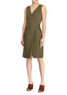 Ralph Lauren: Polo Polo Ralph Lauren Stretch Cady Wrap Dress