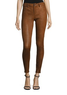 Polo Ralph Lauren Stretch Leather Skinny Pants