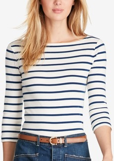 Ralph Lauren: Polo Polo Ralph Lauren Striped Boat-Neck Top