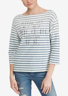 Ralph Lauren: Polo Polo Ralph Lauren Striped Boatneck Cotton Shirt