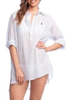 Ralph Lauren: Polo Polo Ralph Lauren Striped Boyfriend Shirt Cover-Up