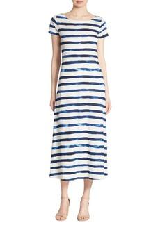 Polo Ralph Lauren Striped Cap-Sleeve Maxi Dress