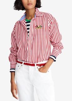 Ralph Lauren: Polo Polo Ralph Lauren Striped Cotton Boyfriend Shirt