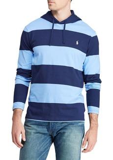 Ralph Lauren Polo Polo Ralph Lauren Striped Cotton Jersey Hooded Tee