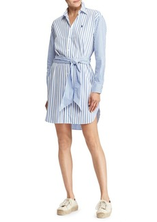 Ralph Lauren: Polo Polo Ralph Lauren Striped Cotton Shirt Dress