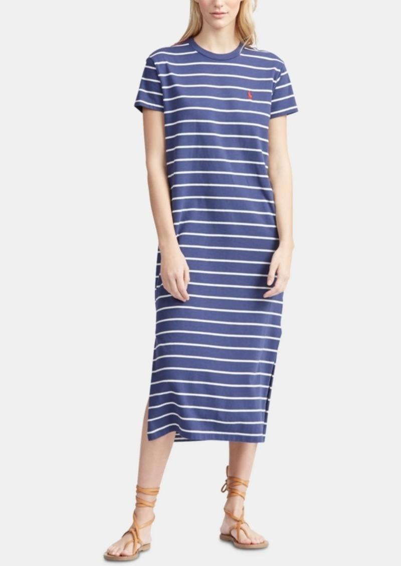 T Lauren Dress Shirt Polo Cotton Ralph Striped QhdsCtr