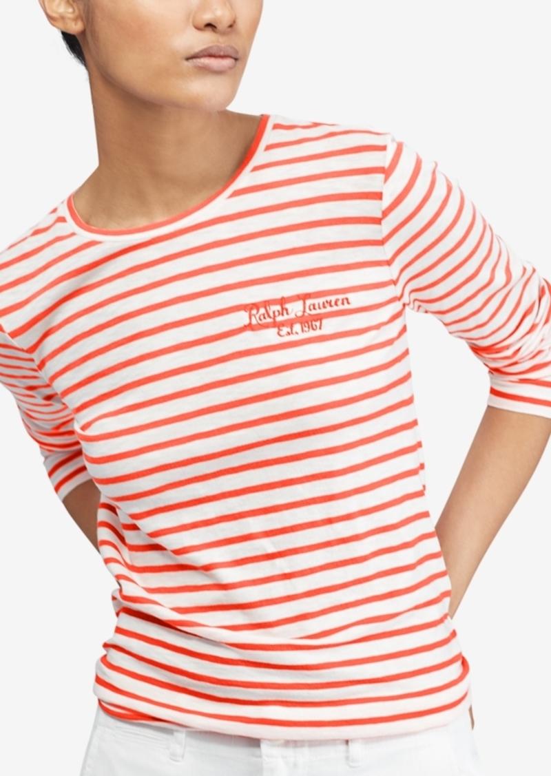 738cc4e3066 Ralph Lauren  Polo Polo Ralph Lauren Striped Long-Sleeve Cotton T-Shirt