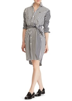 Ralph Lauren: Polo Polo Ralph Lauren Striped Long Sleeve Shirt Dress