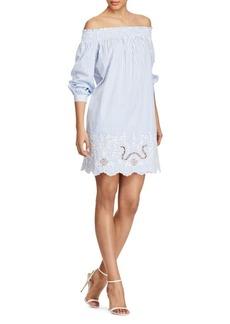 Ralph Lauren: Polo Polo Ralph Lauren Striped Off-the-Shoulder Dress