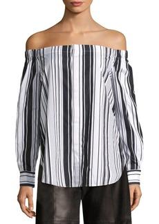 Ralph Lauren: Polo Polo Ralph Lauren Striped Off-The-Shoulder Shirt