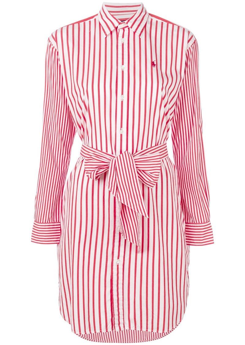 Ralph Lauren: Polo Polo Ralph Lauren striped shirt dress - Red ...