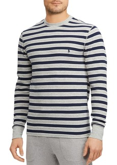 Ralph Lauren Polo Polo Ralph Lauren Striped Waffle-Knit Lounge Tee