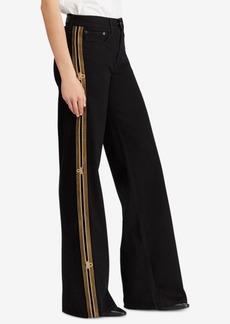 Ralph Lauren: Polo Polo Ralph Lauren Striped Wide-Leg Jeans