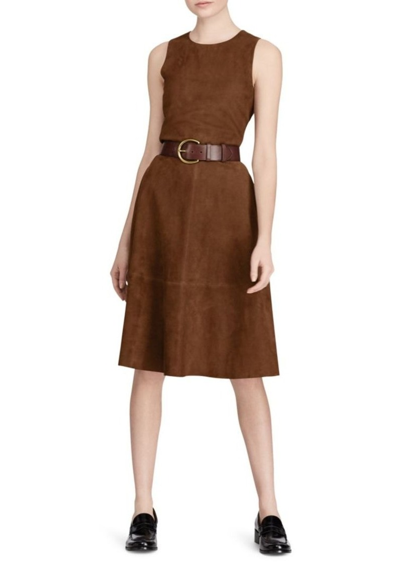 Ralph Lauren: Polo Suede Fit-and-Flare Dress