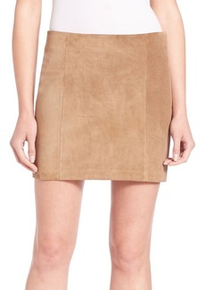 Polo Ralph Lauren Suede Mini Skirt