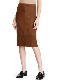 Polo Ralph Lauren Suede Pencil Skirt