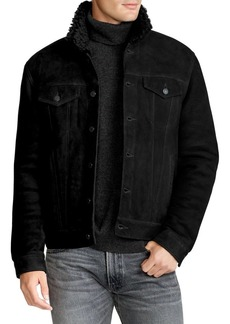 Ralph Lauren Polo Polo Ralph Lauren Suede Shearling Trucker Jacket