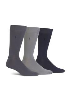 Ralph Lauren Polo Polo Ralph Lauren Super Soft Flat Knit Socks - Pack of 3