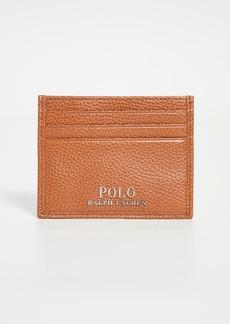 Ralph Lauren Polo Polo Ralph Lauren Tailored Pebble Leather Card Case