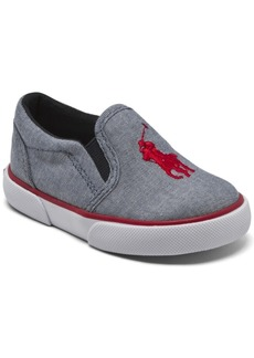 Ralph Lauren: Polo Polo Ralph Lauren Toddler Boys Bal Harbour Iii Slip-On Casual Sneakers from Finish Line