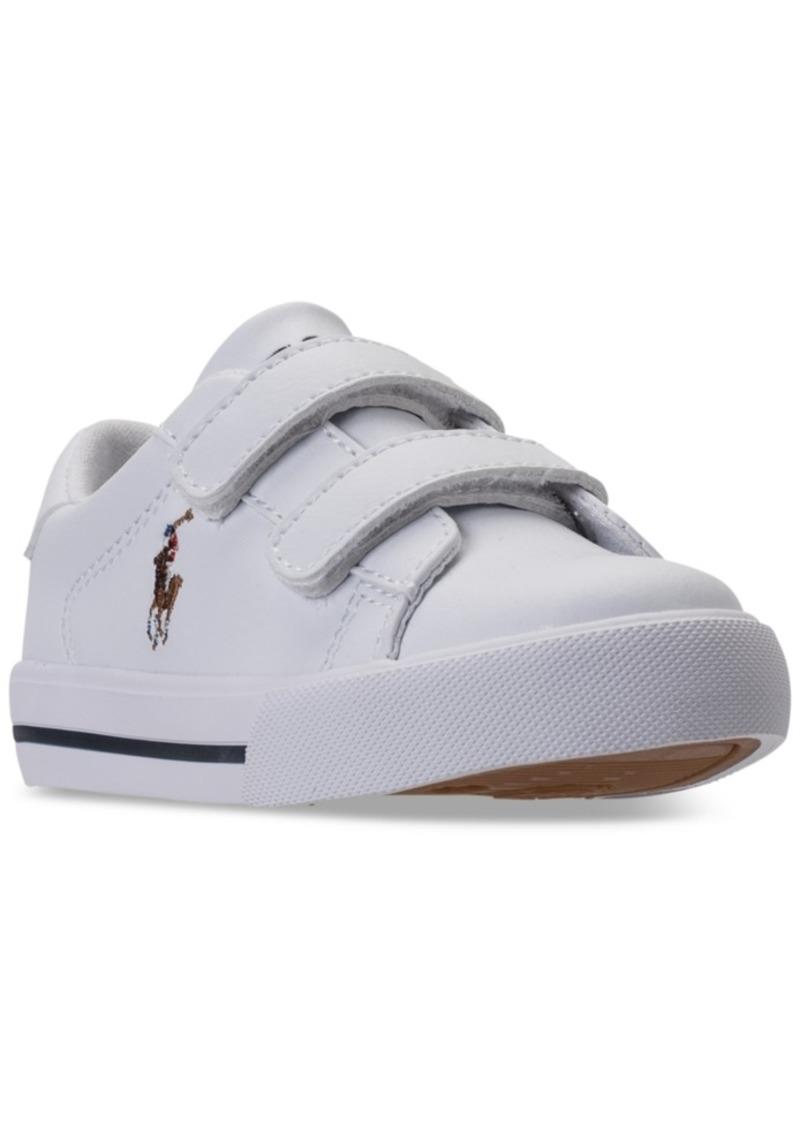 Ralph Lauren: Polo Polo Ralph Lauren Toddler Boys' Easten Ii Ez Casual Sneakers from Finish Line