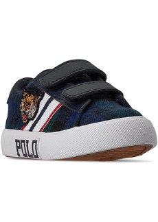 Ralph Lauren: Polo Polo Ralph Lauren Toddler Boys Edgewood Ez Stay-Put Closure Casual Sneakers from Finish Line