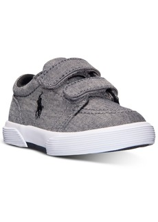 Ralph Lauren: Polo Polo Ralph Lauren Toddler Boys' Faxon Ii Ez Casual Sneakers from Finish Line