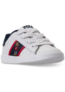 Ralph Lauren: Polo Polo Ralph Lauren Toddler Boys' Quilton Bear Casual Sneakers from Finish Line