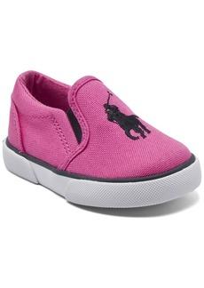 Ralph Lauren: Polo Polo Ralph Lauren Toddler Girls Bal Harbour Iii Slip-On Casual Sneakers from Finish Line