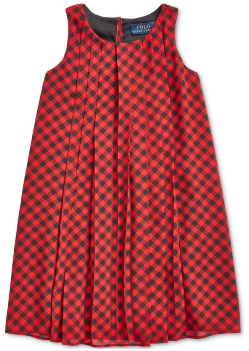 Ralph Lauren: Polo Polo Ralph Lauren Toddler Girls Check Pleated Shift Dress, Created For Macy's