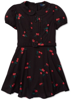 Ralph Lauren: Polo Polo Ralph Lauren Toddler Girls Cherry-Print Dress