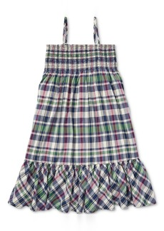 Ralph Lauren: Polo Polo Ralph Lauren Toddler Girls Cotton A-Line Dress