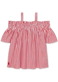 Ralph Lauren: Polo Polo Ralph Lauren Toddler Girls Cotton Off-The-Shoulder Top