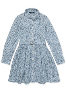Ralph Lauren: Polo Polo Ralph Lauren Little Girls Floral Cotton Shirtdress