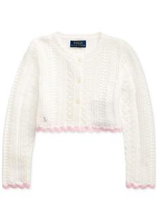 Ralph Lauren: Polo Polo Ralph Lauren Toddler Girls Cropped Cotton Cardigan