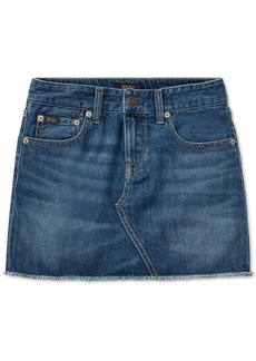 Ralph Lauren: Polo Polo Ralph Lauren Big Girls Denim Cotton Skirt